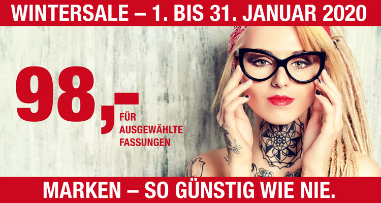 Wintersale bei Optik Art in Dortmund – 1. bis 31. Januar 2020